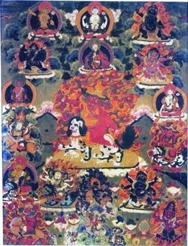 Guru Rinpoche and Dorje Shugden