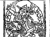 Line drawing of Dorje Shugden
