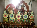 Statues inside Rabten Choling
