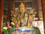 The grand statue of Tsongkhapa in Dagom Ladrang, Nepal