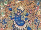 Very rare and unusual thangka of 4-arm Kalarupa