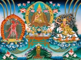 A beautiful thangka of H.H. Kyabje Zong Rinpoche.