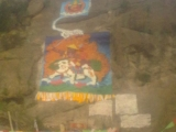 Dorje Shugden Rock Painting in Kham, Tibet
