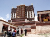 Main Prayer Hall of of Denma Gonsar Rinpoche's Monastery in Tibet