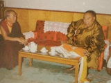 Panchen Lama with Guru Deva Rinpoche