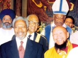 Gangchen Rinpoche with Kofi Annan (former United Nations Secretary General)
