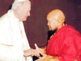 Gangchen Rinpoche with Pope John Paul II