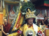 Simla Oracle in the full trance of Dorje Shugden