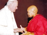 H.H. Pope John Paul receiving H.E. Gangchen Rinpoche