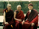 Ven. Kelsang Gyatso, Geshe Konchog, and H.E. Zong Rinpoche