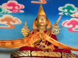 A statue of H.E. Dakpo Dorje Chang in Shar Gaden