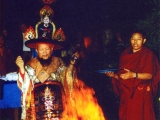 His Eminence Gangchen Rinpoche in Shanak clothes