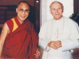 His Holiness the Dalai Lama with the Pope