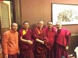 Ven Achok Rinpoche (centre) meets with HE Serkong Tritul Rinpoche