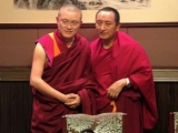 Two great Shugden lamas come together - Ven. Achok Rinpoche on the left and HE Serkong Tritul Rinpoche