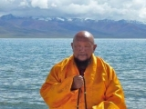 Lama Gangchen who travels around the world healing beings and the environment