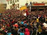 Dalai Lama claims Shugden is a minority practice. Yet thousands of Shugden devotees are seen gathered here at Gaden Sumtseling Monastery, Tibet to celebrate Monlam