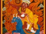 One of the most recent additions to Dorje Shugden's entourage - Namkar Barzin was added approximately 80 years ago after being subdued by Domo Geshe Rinpoche