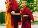 Gonsar Rinpoche with a young Rabten Rinpoche, the incarnation of Geshe Rabten. If Geshe Rabten was a Dorje Shugden practitioner, how come his reincarnation was recognised and he did not go to the three lower realms?