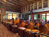 Saga Dawa celebrations and long life puja for H.E. Gonsar Rinpoche at Rabten Chöling, Switzerland