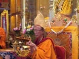 H.E. Gonsar Rinpoche at Saga Dawa celebrations in Rabten Chöling, Switzerland
