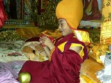 A happy 20th Denma Gonsar Rinpoche during the enthronement ceremony at Sampheling Monastery, Chatreng in 2013