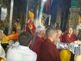 The enthronement ceremony of the present Denma Gonsar Rinpoche at Sampheling Monastery, Chatreng in 2013