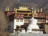 Main building of Zetho Monastery in Chamdo, Tibet which is Daknak Rinpoche's personal monastery