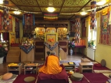 His Eminence Gonsar Rinpoche was recently in Rabten Chodarling (the Czech Republic) granting Vajrapani initiation