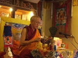 His Eminence Gonsar Rinpoche was recently in Rabten Chodarling (the Czech Republic) granting Vajrapani initiation. Gonsar Rinpoche is an erudite scholar with a vast, penetrative insight, knowledge and understanding of complex Buddhist philosophy
