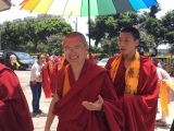 Venerable Achok Rinpoche arrives in China where he will be staying for up to a month. During this time, Achok Rinpoche, who is the heart student of Kyabje Yongyal Rinpoche, will be granting Vajrayogini initiation.