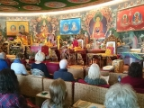 Lama Michel, a heart student of Kyabje Lama Gangchen Rinpoche, giving teachings in Albagnano Healing Meditation Centre, Italy