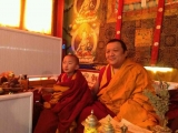 Two lineage greats: HE Denma Gonsa Chocktrul Rinpoche and HH Kyabje Pabongka Chocktrul Rinpoche. Both were staunch Dorje Shugden practitioners in their previous lives, and continue to be in this life
