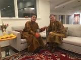 Kyabje Trijang Chocktrul Rinpoche with Jebon Kondor Rinpoche (རྗེ་དབོན་དཀོན་རྡོར་རིན་པོ་ཆེ)