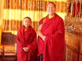 His Holiness the 11th Panchen Lama with His Eminence Denma Gonsa Chocktrul Rinpoche