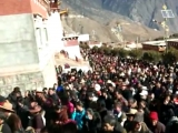 Throngs of visitors at Sampheling Monastery, joining in their annual festival during Losar. Sampheling Monastery is the pride and crown jewel of the people of Chatreng, and a stronghold of Dorje Shugden practice.
