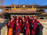Monks at Amarbayasgalant Monastery in Mongolia, a monastery which the current Kyabje Trijang Chocktrul Rinpoche consecrated. http://www.dorjeshugden.com/all-articles/news/h-h-trijang-rinpoche-consecrates-amarbayasgalant-monastery-in-mongolia/