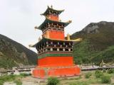 A Dorje Shugden stupa in Redaxiang, Xiangcheng (Chatreng)