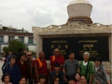 Lama Thubten Phurpu leads a group of sincere followers for a pilgrimage in Kumbum Monastery