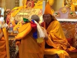 Lama Thupten Phurbu in Switzerland receiving long life requests by Gonsar Rinpoche