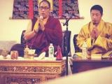 A prominent Shugden lama Dechen Rinpoche with Za Choeje Rinpoche