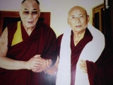 His Holiness Gaden Tripa Lungrik Namgyal a Shugden practitioner with Dalai Lama
