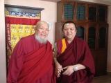 Kyabje Gangchen Rinpoche with H.H. Pabongka Rinpoche