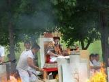 H.H. Trijang Rinpoche conducting Vajra Yogini fire puja 2014