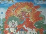 Dorje Shugden's lineage is deeply rooted in Mongolian culture. Seen here is a wall mural of Dorje Shugden in Bulgan Monastery, Mongolia.