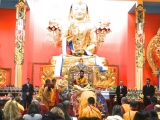 His Holiness Trijang Rinpoche presiding over the opening of Gaden KhachoeShing