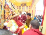 October 2014-Trijang Rinpoche meets Dorje Shugden in full trance of oracle