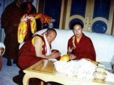 Kyabje Denma Gonsa Rinpoche meeting with H.H. 11th Panchen Rinpoche