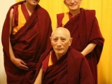 Gyumed Khensur Rinpoche with Lama Wangchuk Rinpoche and Ven. Gonsar Rinpoche