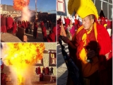 Chakar puja in conjunction with Dorje Shugden Torgya at Ganden Sumtseling Monastery by Serpom Geshe Losang Tharchen